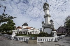 The Kapitan Keling Mosque. The Kapitan Keling Mosque (Malay name: Masjid Kapitan Keling,Tamil Royalty Free Stock Photo
